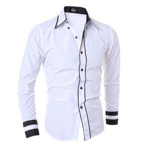 CHEMISE - CHEMISETTE Vêtements chemises pour hommes occasionnels Blanc