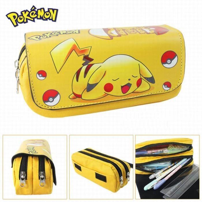 trousse deux compartiments rentr e scolaire pokemon pikachu achat vente etui stylo trousse. Black Bedroom Furniture Sets. Home Design Ideas