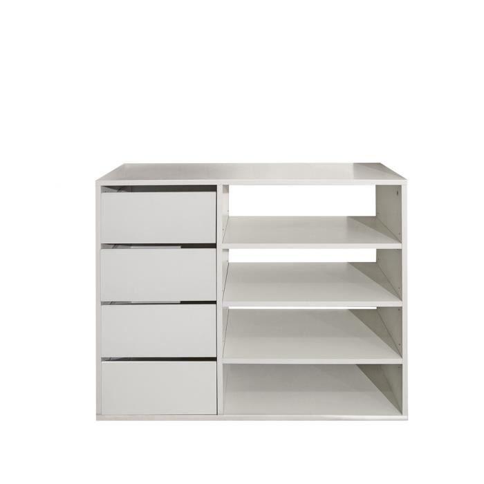meuble de rangement 89 cm blanc achat vente meuble chaussures bloc rangement 89 cm. Black Bedroom Furniture Sets. Home Design Ideas