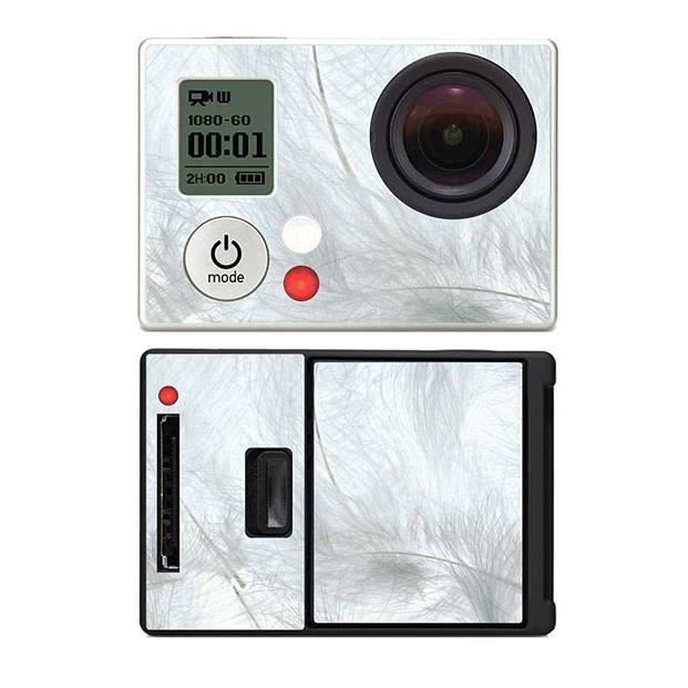 skin stickers pour gopro hero 3 sticker plumes blanches. Black Bedroom Furniture Sets. Home Design Ideas