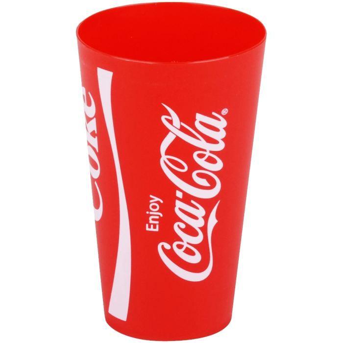 gobelet incassable verre coca cola coke enjoy r achat vente verre eau soda soldes d. Black Bedroom Furniture Sets. Home Design Ideas