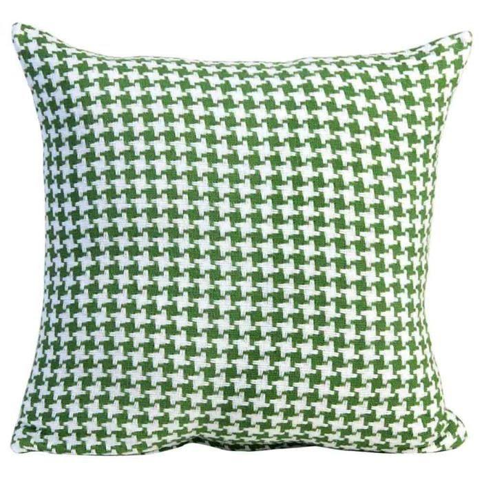Coussin d houssable motif chevron vert 60 x 60 cm achat for Housse de coussin 60 60