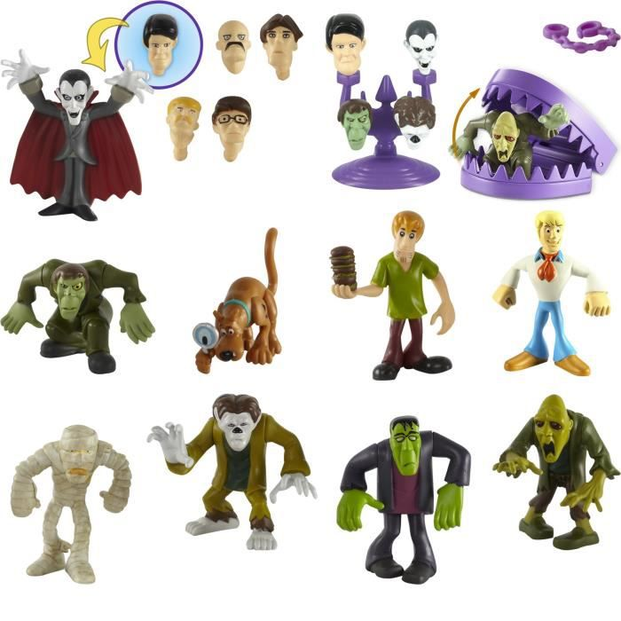 Scooby doo pack de cinq figurines assorties achat - Personnage scooby doo ...
