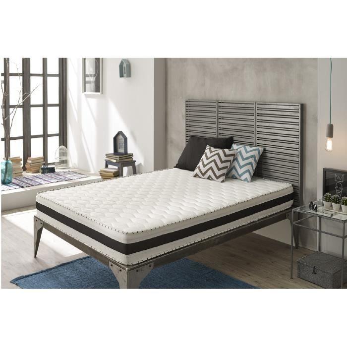 matelas m moire de forme aloe memory 160x200 cm en blue latex 25 cm de natura. Black Bedroom Furniture Sets. Home Design Ideas