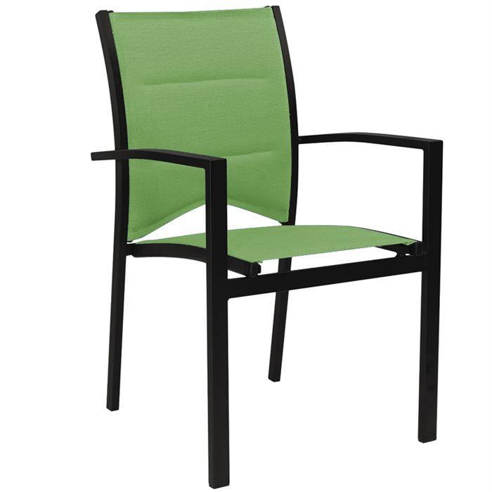 Fauteuil de jardin modulo vert anis achat vente chaise for Chaise de jardin verte