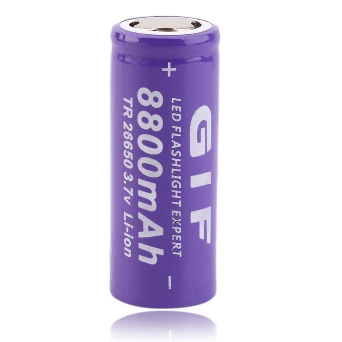 3 7v 26650 8800mah batterie rechargeable li ion pour le torche led achat vente batterie