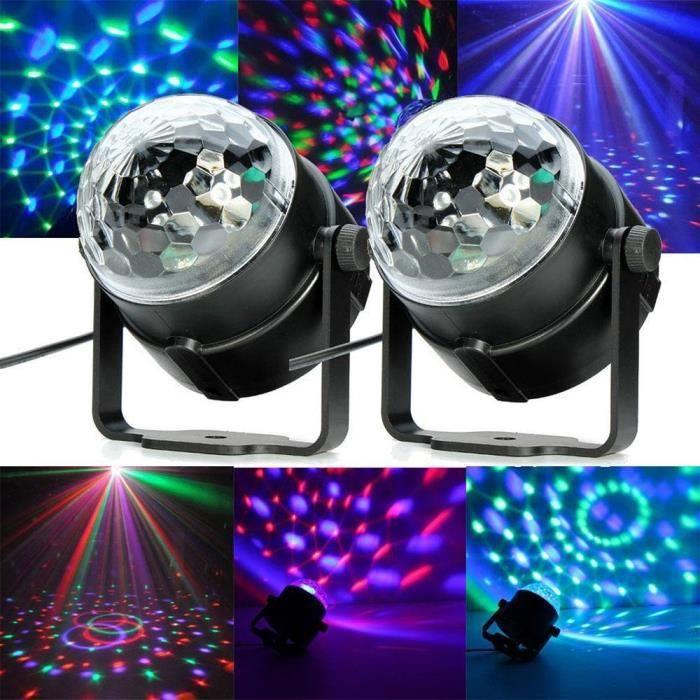 lampe de sc ne gvb dj led atmosph re lumi re ampoule boule cristal commande sonore pour disco. Black Bedroom Furniture Sets. Home Design Ideas