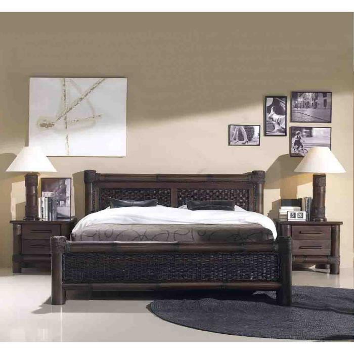 lit en bambou mod le tropicana achat vente. Black Bedroom Furniture Sets. Home Design Ideas