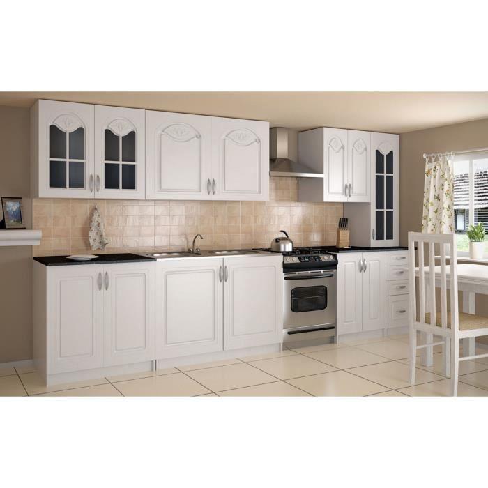 pamela blanc cuisine compl te 300 cm achat vente cuisine compl te pamela blanc cuisine. Black Bedroom Furniture Sets. Home Design Ideas