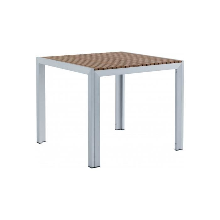 table aluminium et r sine bois l90 achat vente table. Black Bedroom Furniture Sets. Home Design Ideas