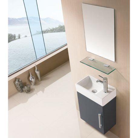 Sd960gt meuble salle de bain gris taupe achat vente for Meuble salle de bain taupe