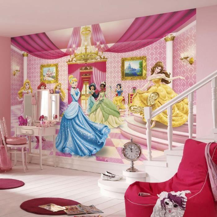 papier peint salle de bal des princesses disney achat vente papier peint cdiscount. Black Bedroom Furniture Sets. Home Design Ideas