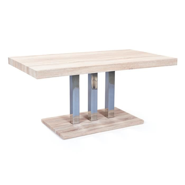 Table de salle manger design rectangulaire 160 cm for Table de salle a manger design