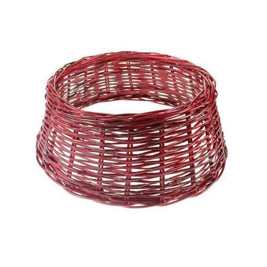 cache pied de sapin en osier rouge cosy achat vente pied de sapin de no l. Black Bedroom Furniture Sets. Home Design Ideas