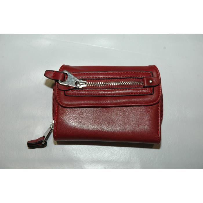 Portefeuille david jones bordeaux rouge achat vente portefeuille 2009961186769 cdiscount for Achat porte interieur bordeaux