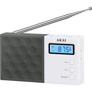 AKAI AR-76W Radio pocket Digital - Noir et Blanc