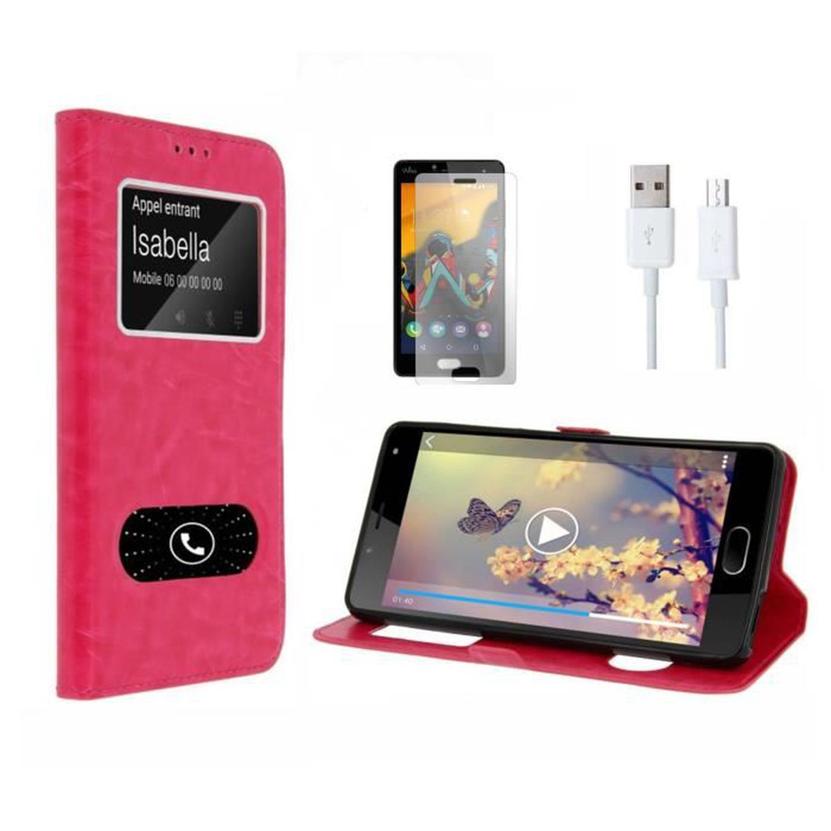 Housse wiko lenny 3 rose achat housse tui pas cher for Wiko lenny 3 housse