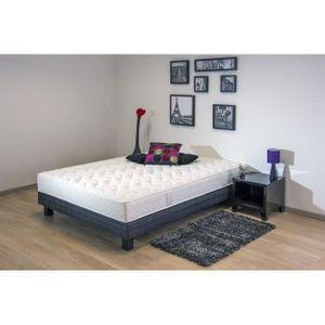 matelas et sommier 160 200 achat vente matelas et sommier 160 200 pas cher cdiscount. Black Bedroom Furniture Sets. Home Design Ideas