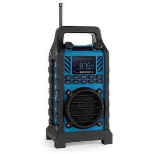 RADIO CD CASSETTE oneConcept 862-BT-BL - radio de chantier avec Blue