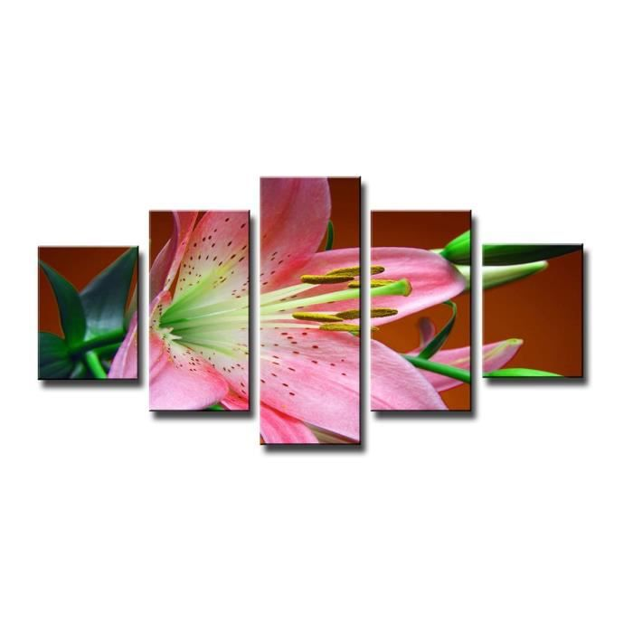 Tableau moderne imprim 160x80 cm fleurs achat vente tableau toile to - Tableau moderne discount ...