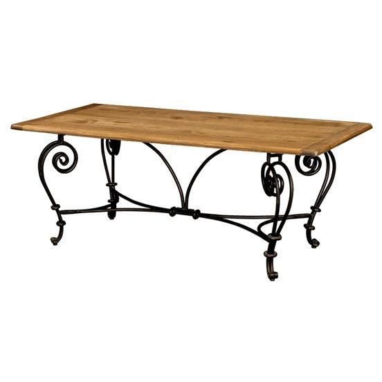 Table Rectangulaire Fer Forg Ch Ne Massif 39 Ant Achat