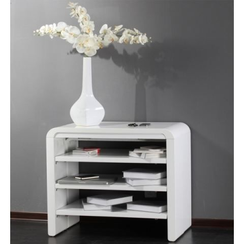 Table console extensible milla laquee blanc achat vente table manger ta - Meuble console extensible ...
