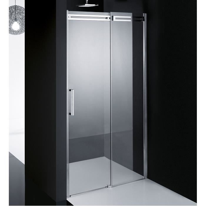 Douche receveur porte coulissante diamanti 2p 160 cm droite - Porte coulissante douche 100 ...
