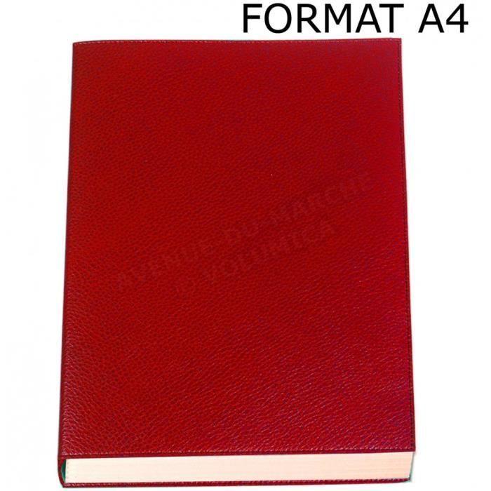 carnet de note xl cuir rouge achat vente carnet de. Black Bedroom Furniture Sets. Home Design Ideas