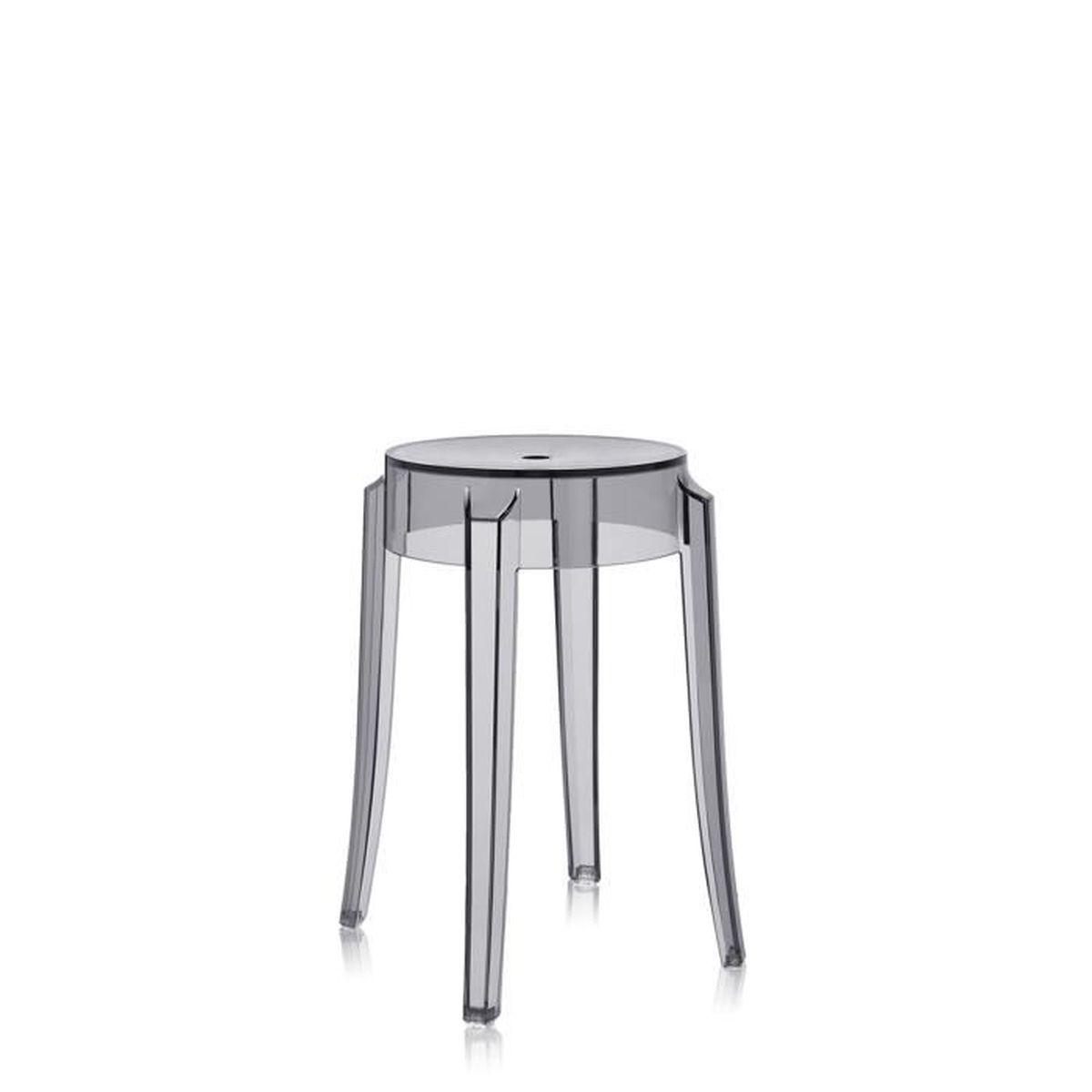 kartell tabouret charles ghost h46 cm fum achat vente tabouret soldes cdiscount. Black Bedroom Furniture Sets. Home Design Ideas