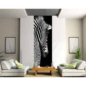 papier peint zebre achat vente papier peint zebre pas cher les soldes sur cdiscount. Black Bedroom Furniture Sets. Home Design Ideas