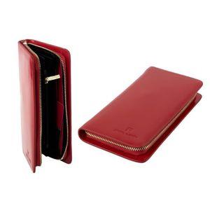 portefeuille femme pierre cardin rouge compact avec ouverture zip a4977 achat vente. Black Bedroom Furniture Sets. Home Design Ideas