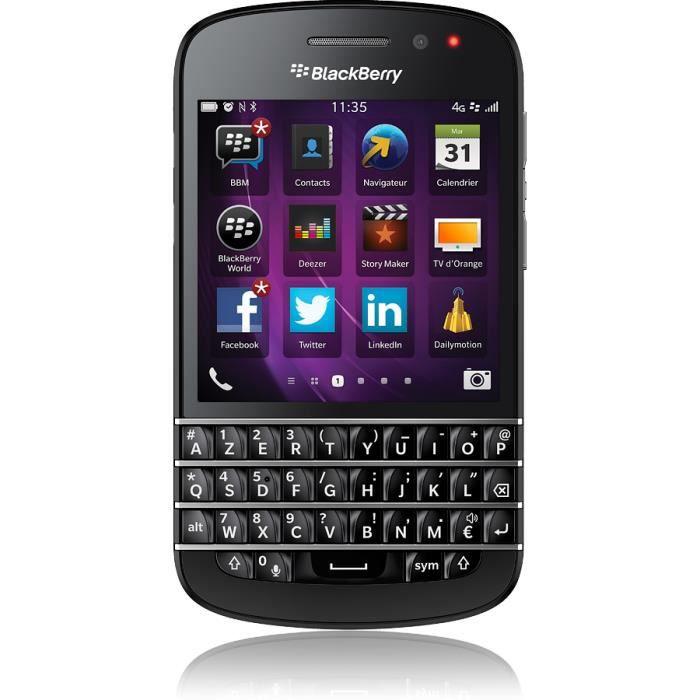 blackberry q10 4g achat vente blackberry q10 4g pas cher les soldes sur cdiscount cdiscount. Black Bedroom Furniture Sets. Home Design Ideas