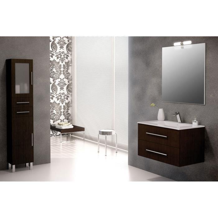 Ensemble de salle de bain madrid meuble suspendu weng 80 for Ensemble meuble salle de bain 80 cm