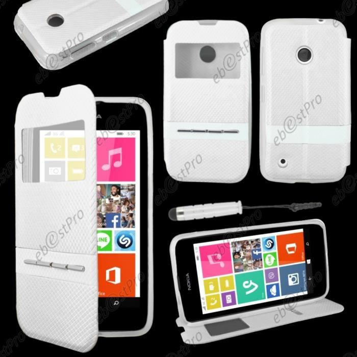 ebeststar coque view nokia lumia 530 blanc mini stylet film blanc achat accessoires. Black Bedroom Furniture Sets. Home Design Ideas