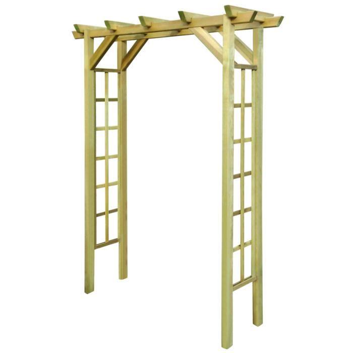 Tonnelle arche en bois de pin vert impr gn pour rose ou Tonnelle en bois pour jardin