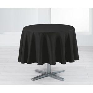 nappe ronde noir achat vente nappe ronde noir pas cher soldes cdiscount. Black Bedroom Furniture Sets. Home Design Ideas