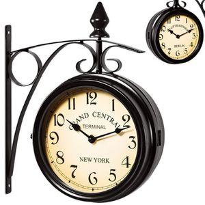 Horloge de gare double face achat vente horloge de gare double face pas c - Pendule de gare double face ...