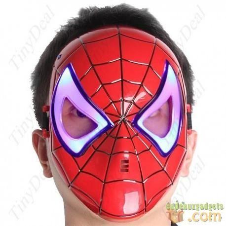 Masque homme araign e avec les yeux lumineux achat vente masque decor visage cdiscount - Araignee rouge dangereux pour l homme ...