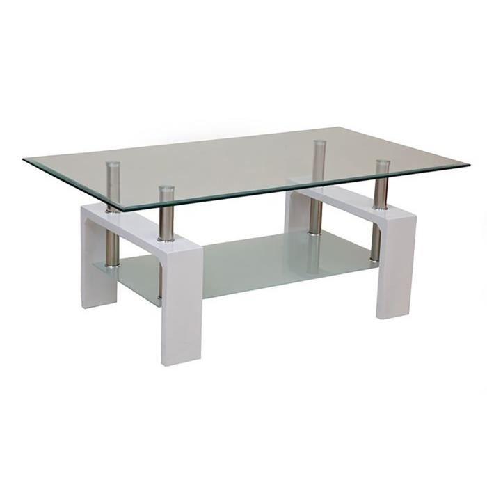 table basse blanche 2 plateaux focus achat vente table basse table basse 2 plateaux focus. Black Bedroom Furniture Sets. Home Design Ideas