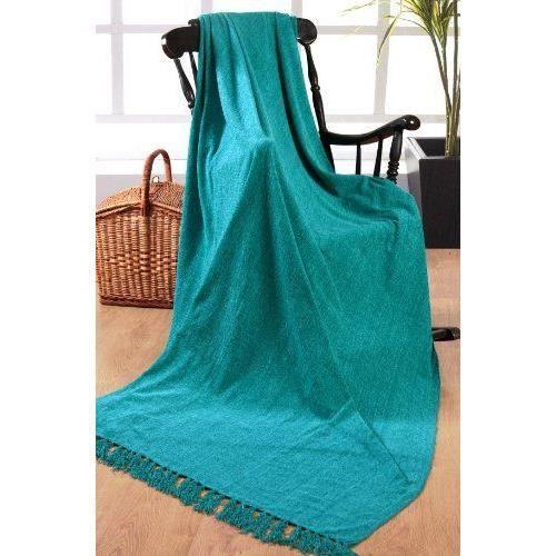 elitehomecollection jet de canap couvre lit en chenille 100 polyester turquoise 225x250cm. Black Bedroom Furniture Sets. Home Design Ideas