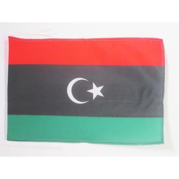 Drapeau libye 45x30cm libyen haute qualit achat for Linge de maison haute qualite