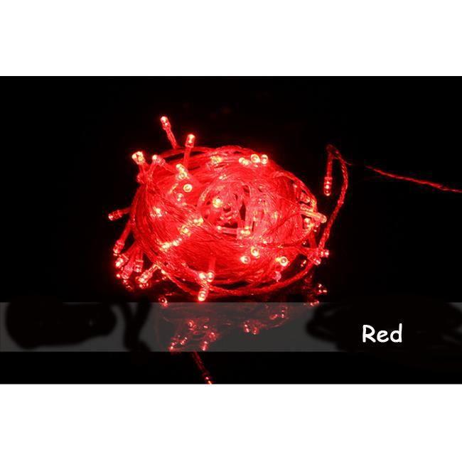 guirlande ext rieur lampe rvb 10m 100 led rouge achat. Black Bedroom Furniture Sets. Home Design Ideas