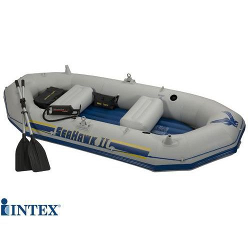 bateau gonflable 3 places seahawk sport intex r f 68377 set bateau comprenant les rames et le. Black Bedroom Furniture Sets. Home Design Ideas
