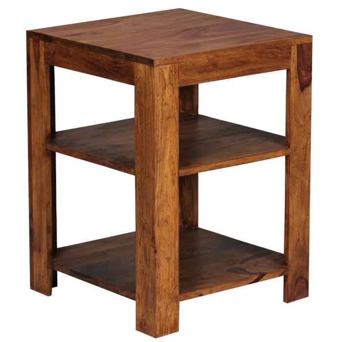 Etagère en bois massif de palissandre à 2 niveaux, 60 x 44 ...