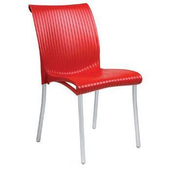 Lot de 2 chaises regina rouge achat vente fauteuil for Chaise de jardin rouge
