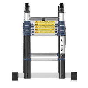 ECHELLE - ESCABEAU WORHAN® Echelle 4.4m Télescopique Aluminium Anodis