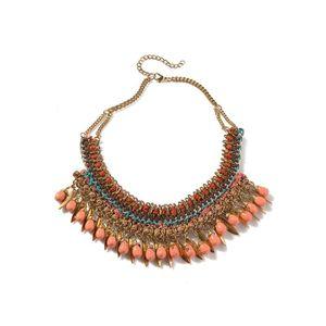SAUTOIR ET COLLIER Collier, accessoire mode - Orange moyen bicolor/mu