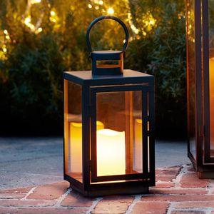 lanterne noire pour bougie achat vente lanterne noire. Black Bedroom Furniture Sets. Home Design Ideas