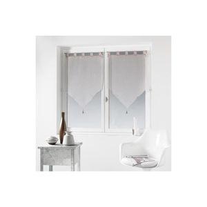 rideaux voilage a passant achat vente rideaux voilage a passant pas cher cdiscount. Black Bedroom Furniture Sets. Home Design Ideas