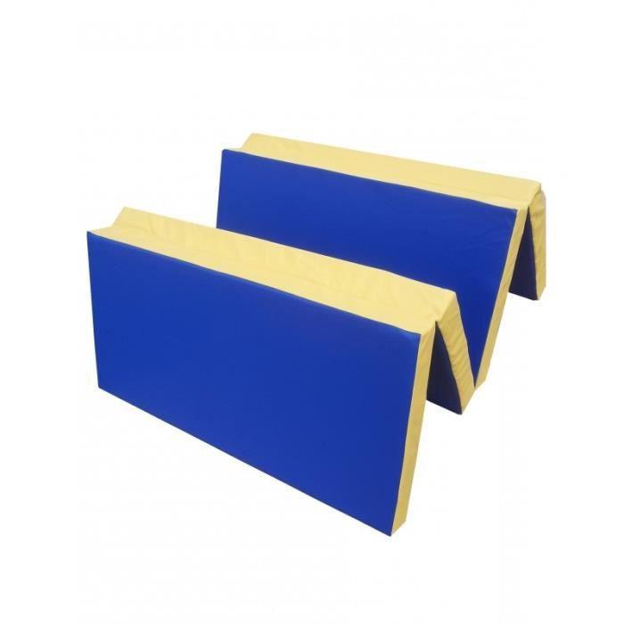 tapis de gymnastique pliable bleu et jaune 200 cm prix pas cher soldes cdiscount. Black Bedroom Furniture Sets. Home Design Ideas